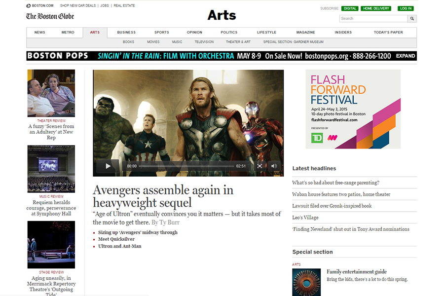 The Boston Globe - Arts