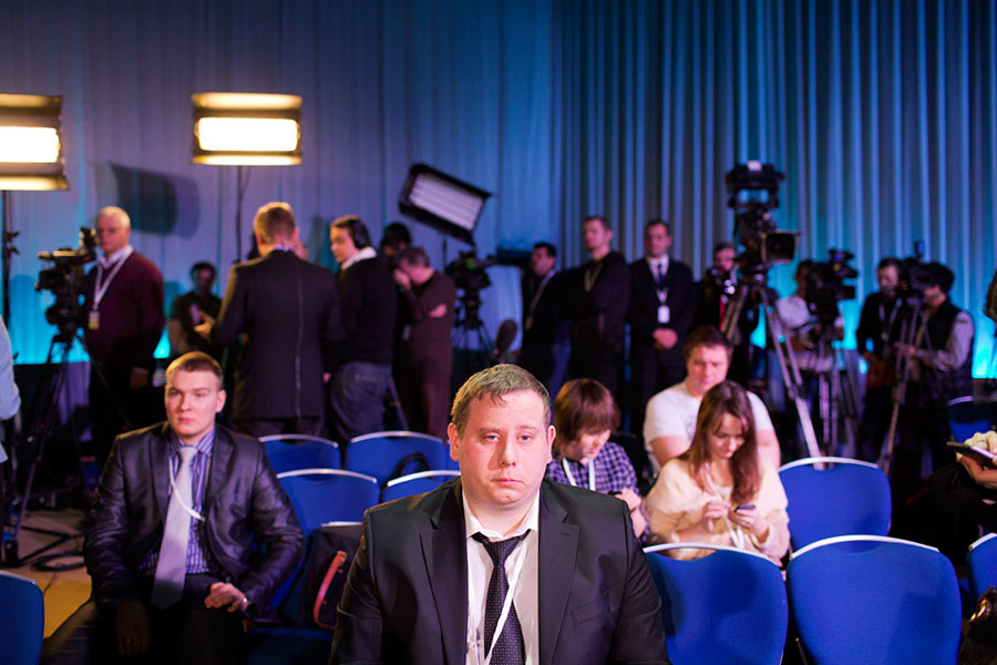 Vladimir Putin's annual press conference in Moscow, Russia (2012) by Scott Brauer