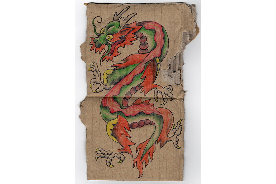 Cardboard Dragon #1a by Thomas J. Gustainis