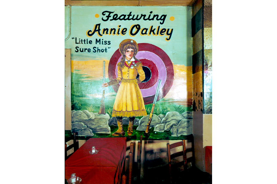 Wall Painting of Annie Oakley, Longhorn Ballroom, Dallas, Texas, 1979 by Jim Dow