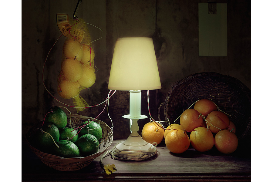 Fruit Battery Still Life (Citrus), 2012 by Caleb Charland