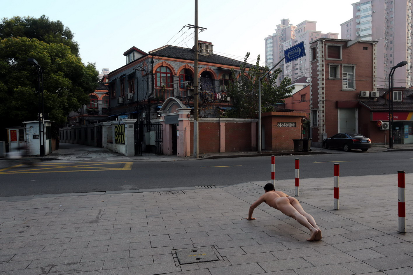 From the series Push-ups by Ou Zhihang